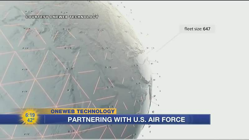 OneWeb uses a low Earth orbit satellite system to help aid U.S. Air Force projects.