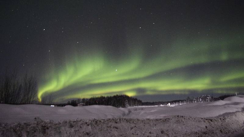The northern lights shine over Willow, AK. (Courtesy Julie Brown)