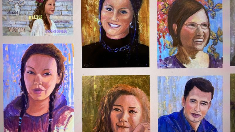 Portraits of Hope features portraits of teens who have received services through MyHouse, a...