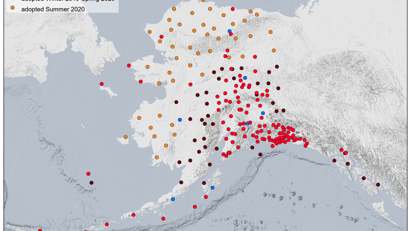 Seismic stations in Alaska