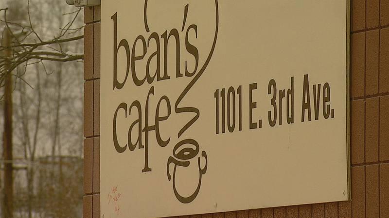 Bean's Cafe sign
