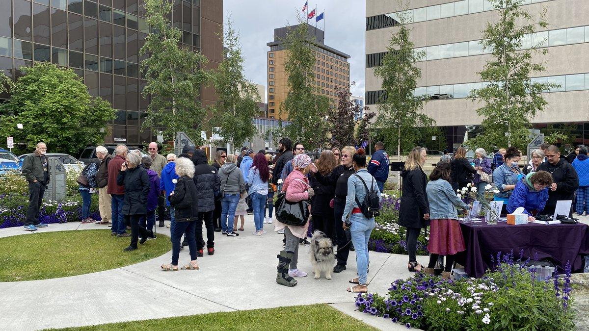 Anchorage homicide memorial at Hostetler Park