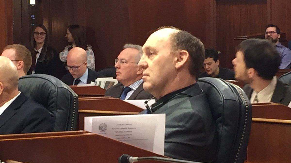 Rep. Gary Knopp, R-Kenai on Feb. 12, followingtwo failed deadlock votes for House Speaker....