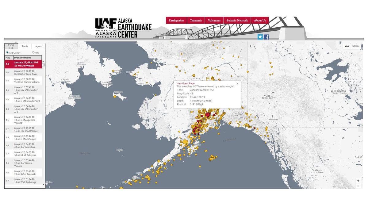From Alaska Earthquake Center
