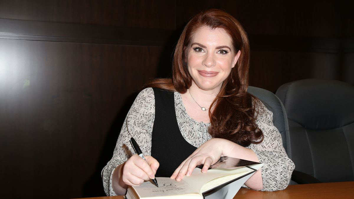 "Stephenie Meyer signs copies of her book ""Life and Death"" at Barnes & Noble in Los Angeles, California, on October 12, 2015."