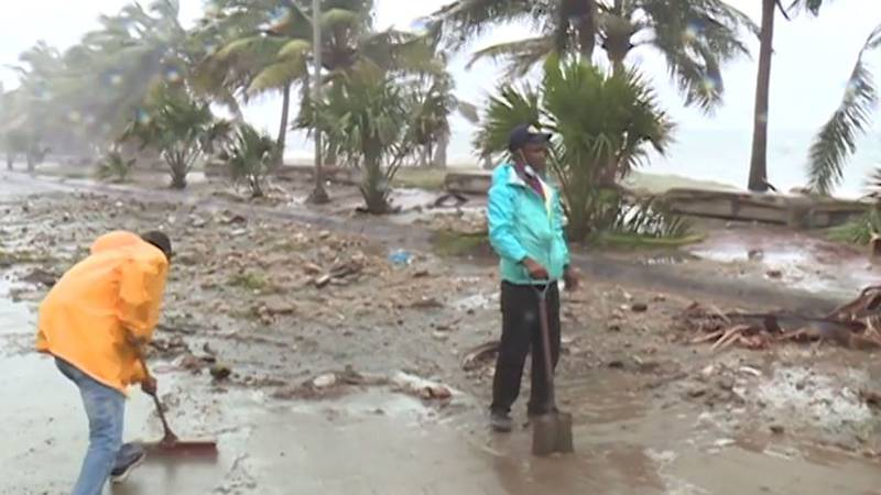 Tropical Storm Elsa battered the southern coasts of Haiti and the Dominican Republic on...