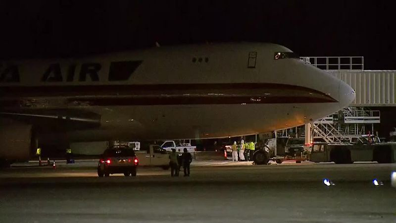 Chartered flight that carried 201 American passengers landed at Ted Stevens-Anchorage...
