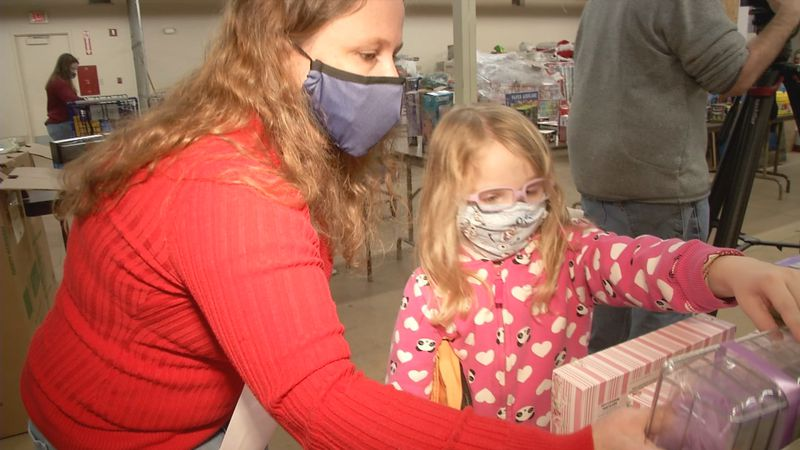 The Alaska National Guard celebrates 65 years of Operation Santa delivering Christmas gift to...