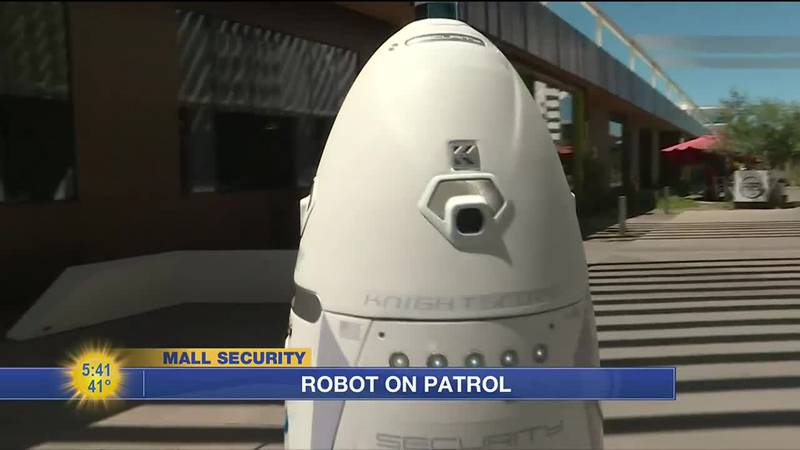 A mall in Arizona with a droid cop, a video game that's designed to teach people how to say no,...