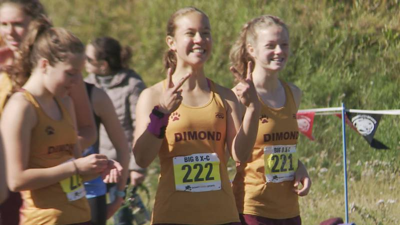 Runners from Dimond High School participate in the Big 8 cross country meet Saturday, Aug. 28,...