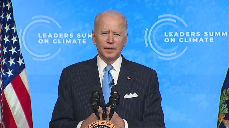 President Joe Biden talked about the economic opportunities that come with action on addressing...