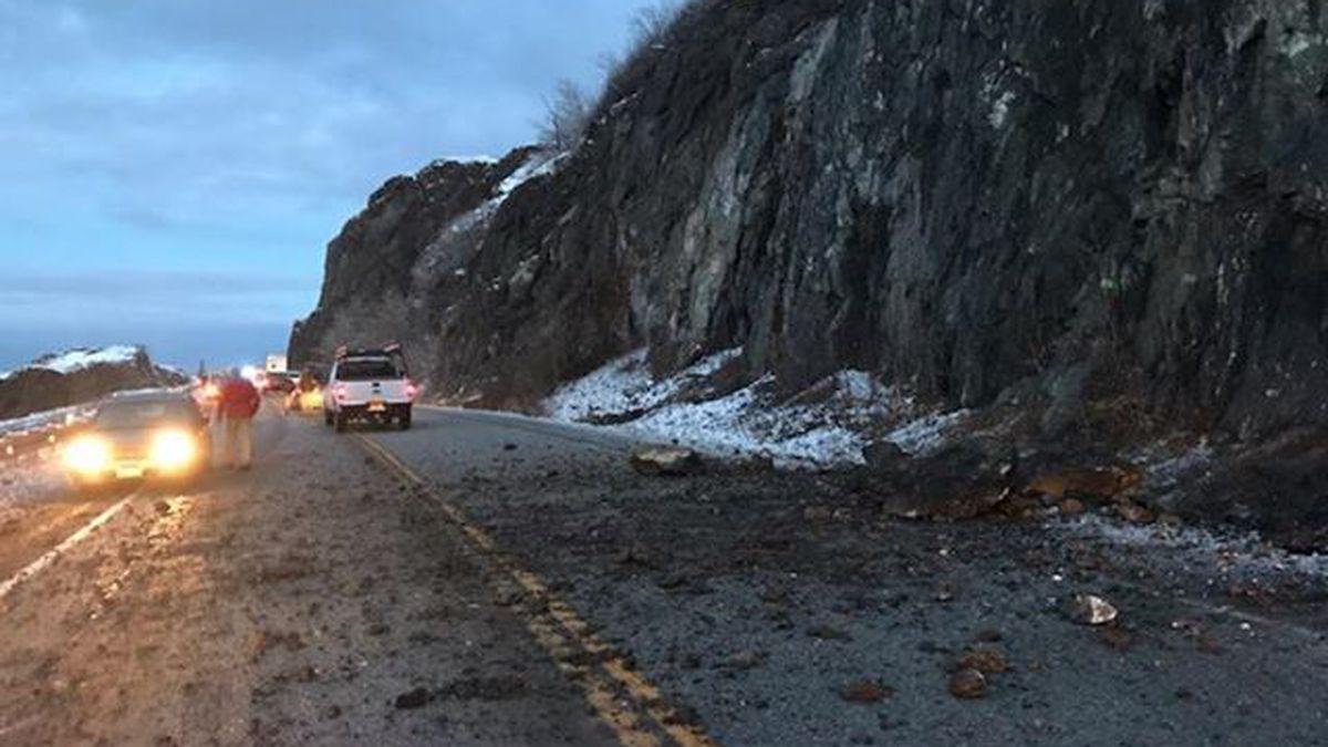 Landslide on the Seward Highway. Photo courtesy Daniel Roberto.