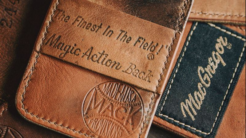 Mack Provisions creates wallets out of vintage baseball mitts.