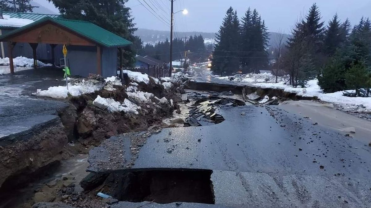 Heavy rains washed out Young Road in Haines, where more than 7 inches of rain has fallen.