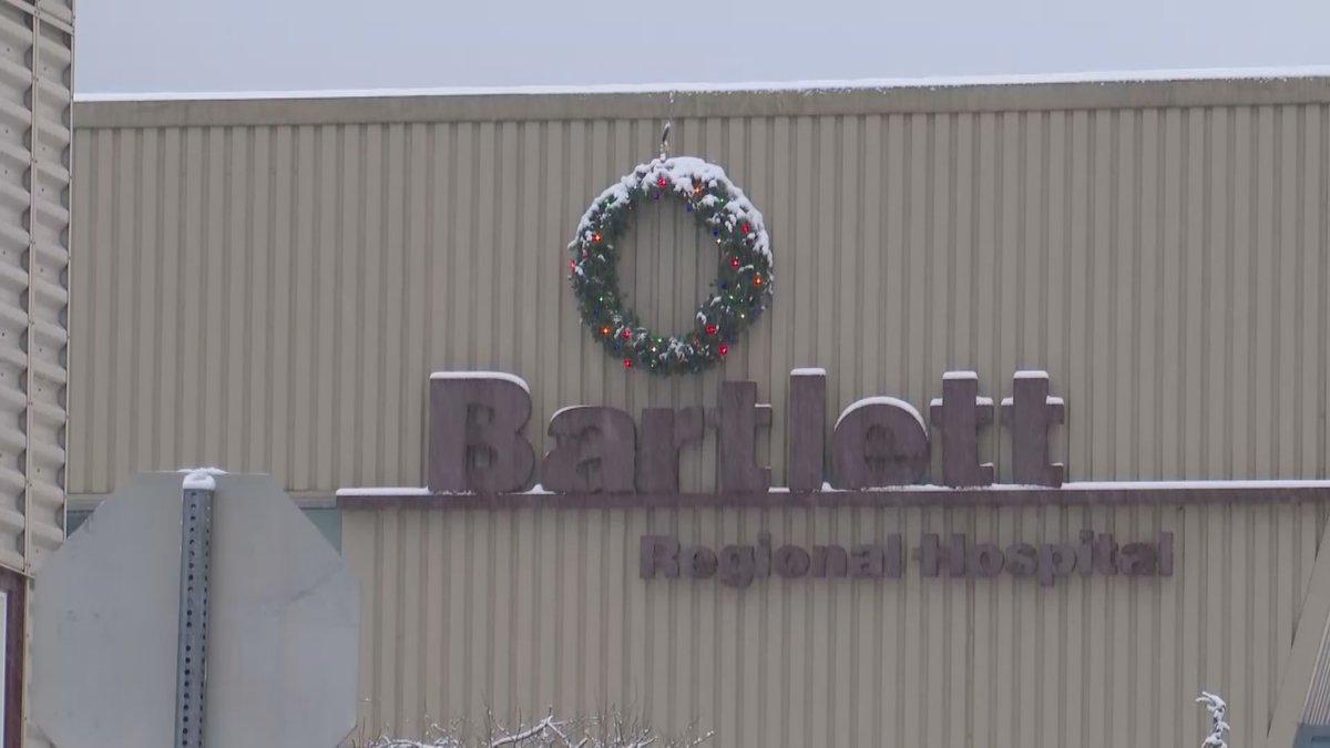 A file photo of the Bartlett Regional Hospital in Juneau on Dec 22, 2020