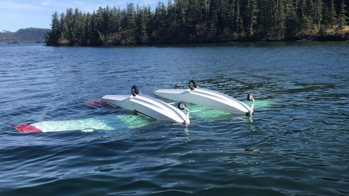 A plane crashed in Cascade Bay southwest of Valdez Tuesday. (U.S. Coast Guard photo)