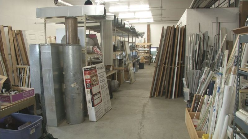 The non-profit Mat-Su Valley Rebuild collects and sells reused construction supplies in an...