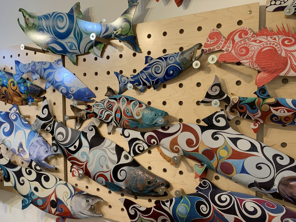 Dodd also has a line of printed fish on aluminum