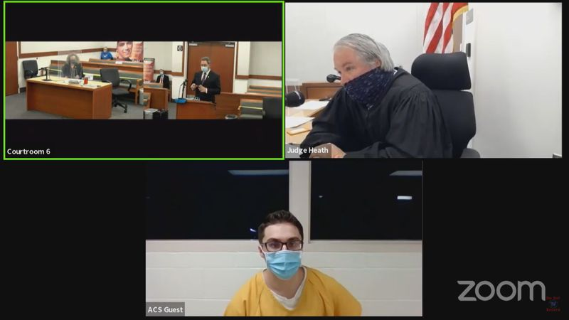 The sentencing for Austin Barrett was scheduled to be livestreamed over YouTube.