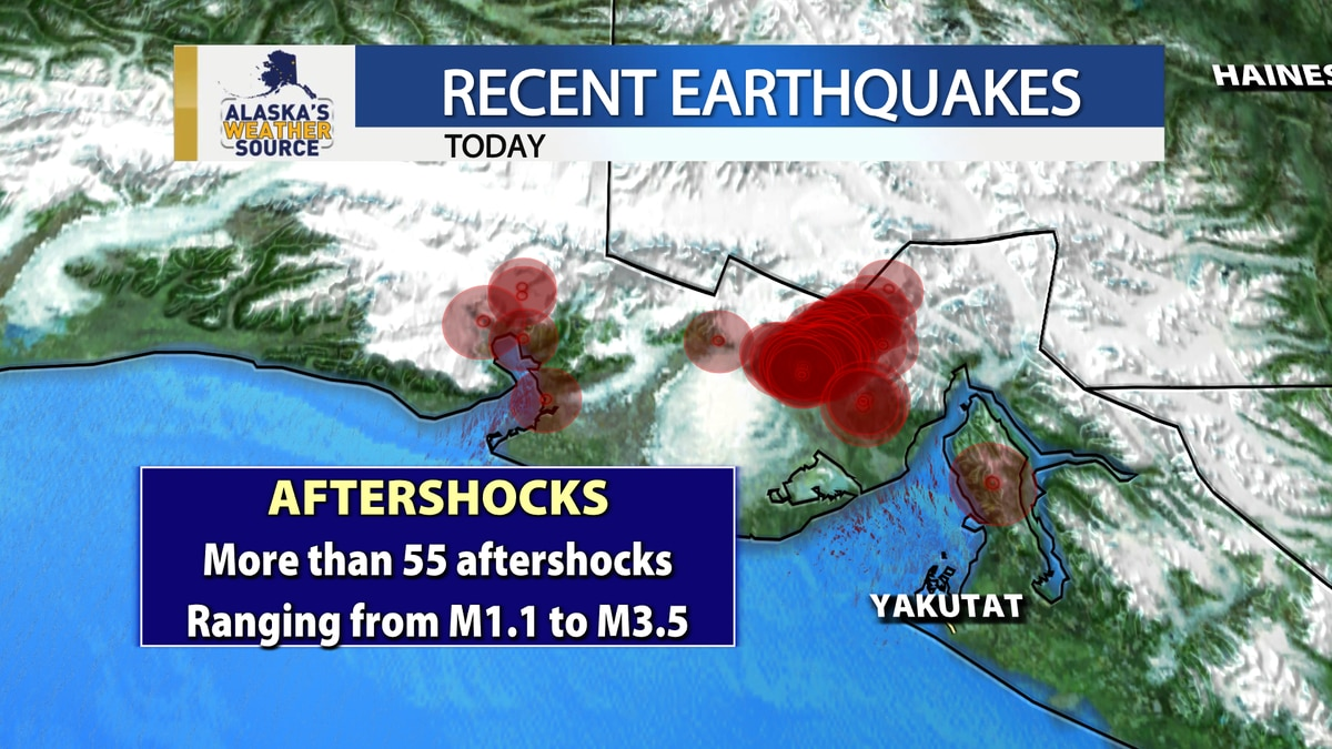 There have been more than 55 small aftershocks in the past 24 hours.