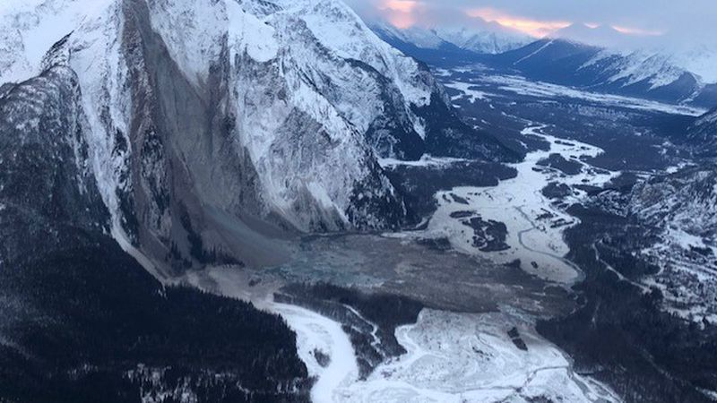 Landslide in the Taku River Valley