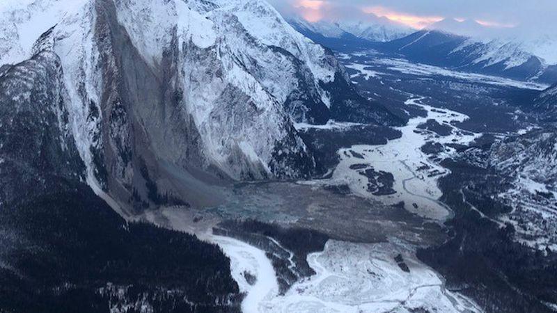Landslide in the Taku River Valley