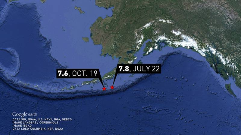 Alaska sees world's first and third largest quakes of 2020