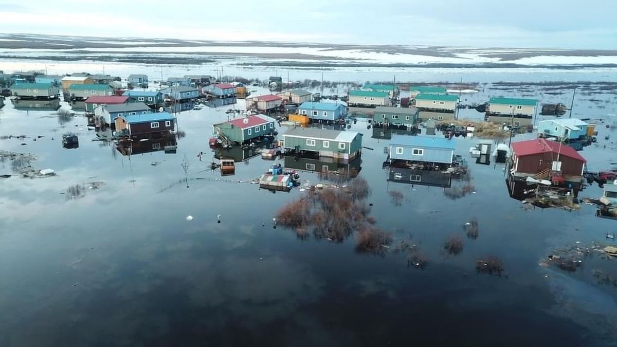 An ice jam on the Buckland River flooded the village of Buckland on May 12. The area is still...
