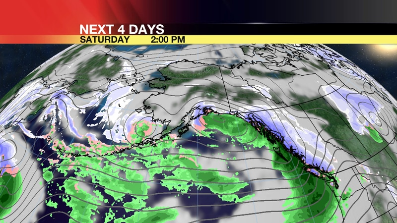 Another storm will bring rain and snow the southern coastal areas.