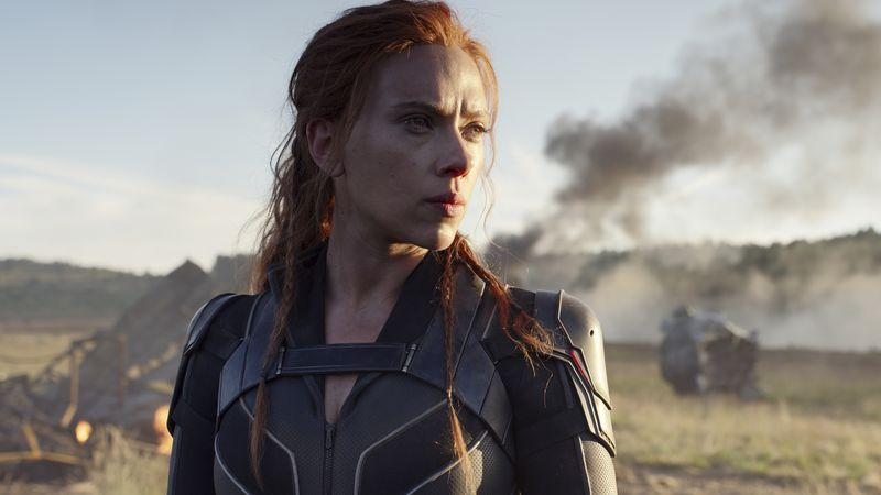 """This image released by Disney/Marvel Studios' shows Scarlett Johansson in a scene from """"Black..."""