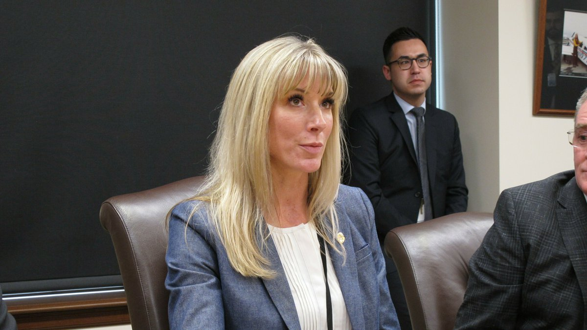 Amanda Price, Gov. Mike Dunleavy's pick to lead the Alaska Department of Public Safety, speaks...