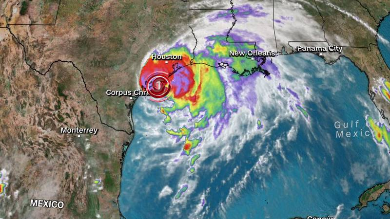 Nicholas strengthened into a Category 1 hurricane Monday as it headed toward landfall along the...