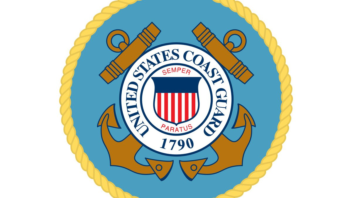 A Coast Guard helicopter lowered two rescue swimmers to the site, and they reported no survivors.