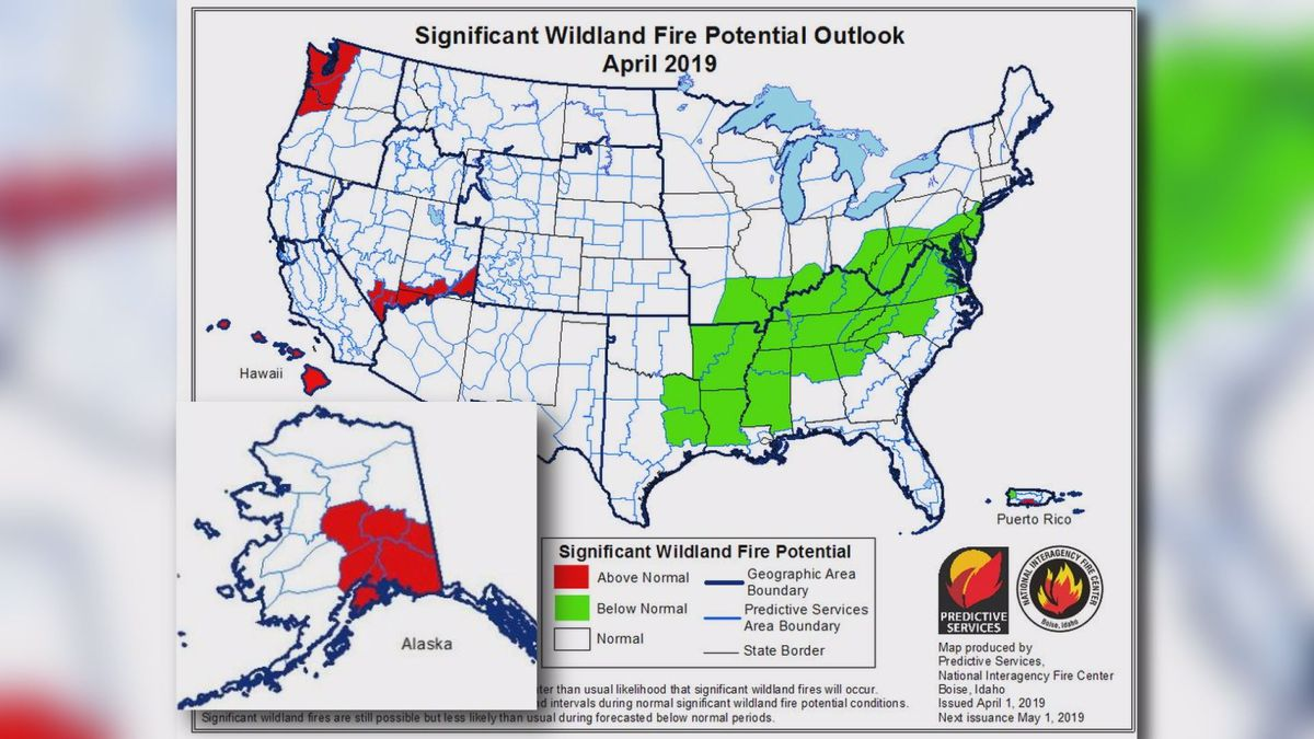 (National Interagency Fire Center, Predictive Services)