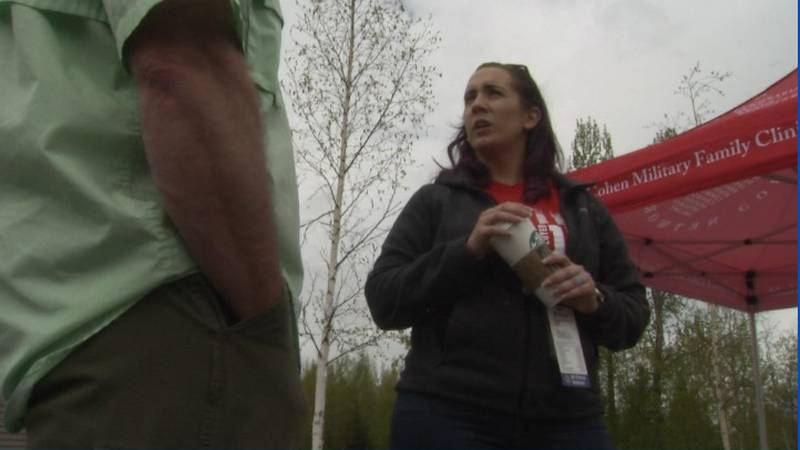 Veterans attend event in East Anchorage.