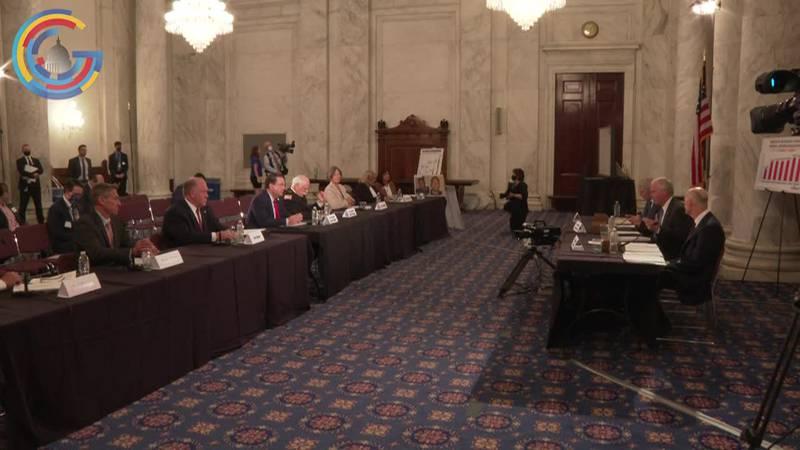 Republican senators hold immigration roundtable on Capitol Hill