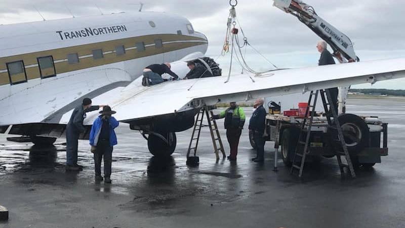 Veterans with the VIPER program train on DC-3 aircraft donated by actor, producer, and...